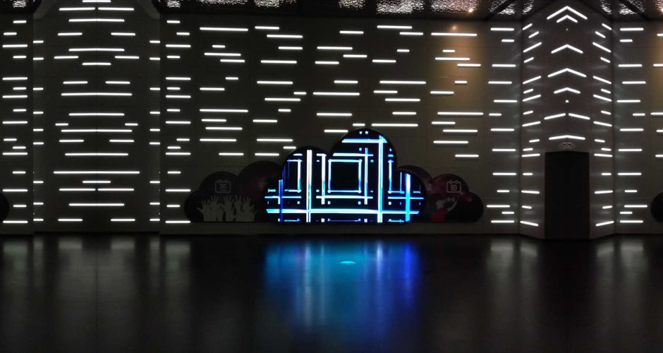 creative shape airport led display