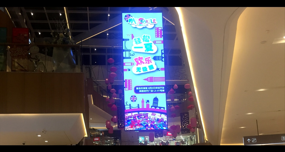 high definition hanging led display