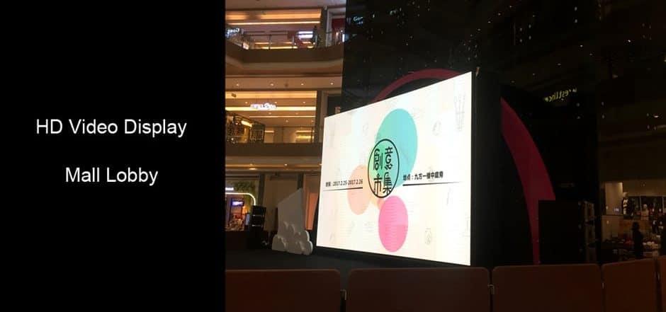hd video display creates stunning visual effect