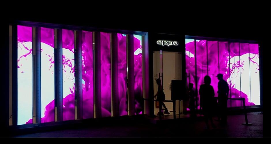 LED-display voor de detailhandel creëert opmerkelijke visuele ervaringen
