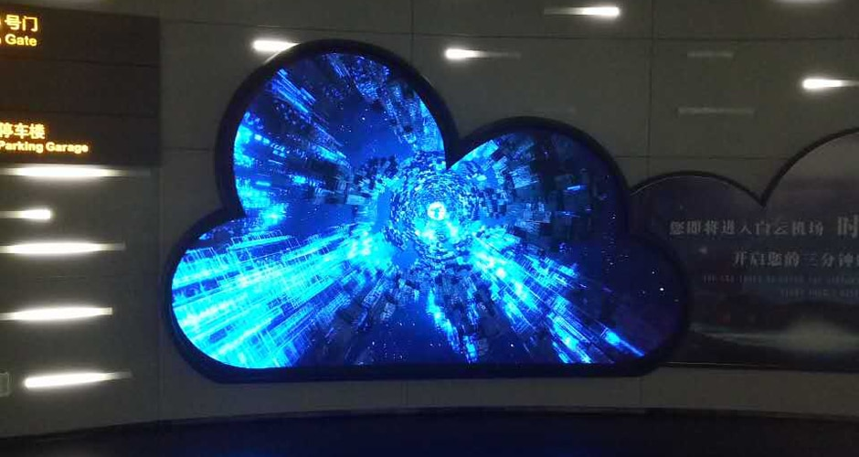 customized shape of airport led display