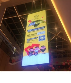 hanging HD LED screen for mall