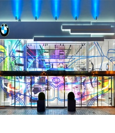 HD glass LED screen for retail