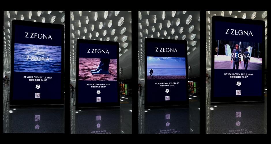 reklama cyfrowa na lotnisku zwiększająca doświadczenie marki