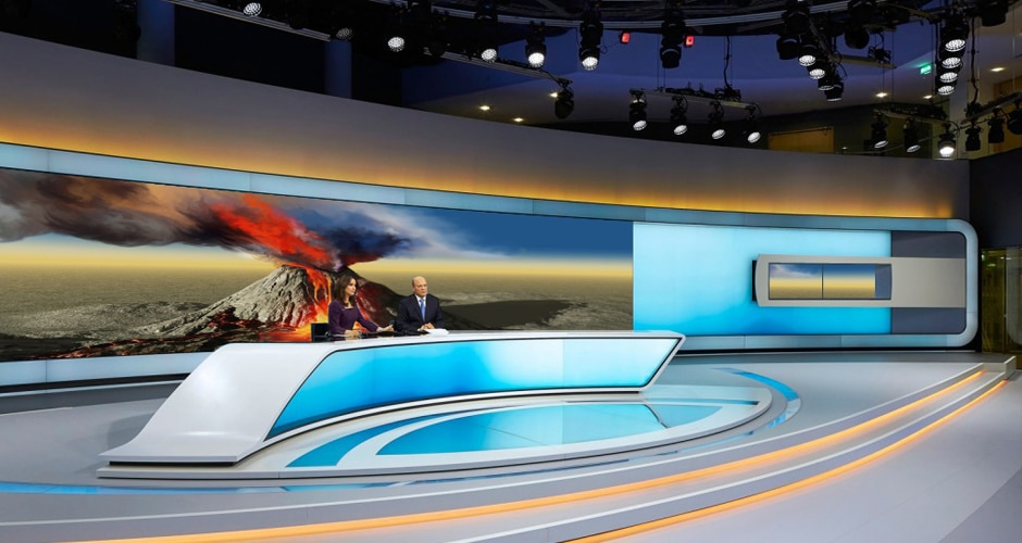 eye-astonishing visual experience video wall for broadcast