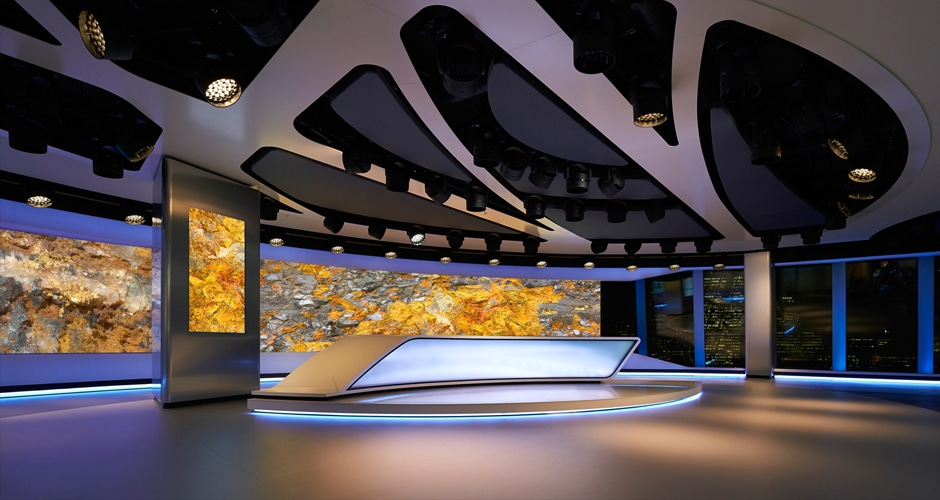 world-class high resolution video wall for broadcast