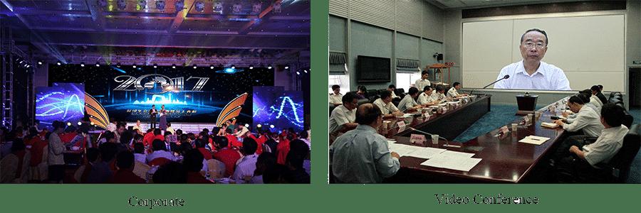 kurumsal / video konferansta kullanılan ince perde led ekran