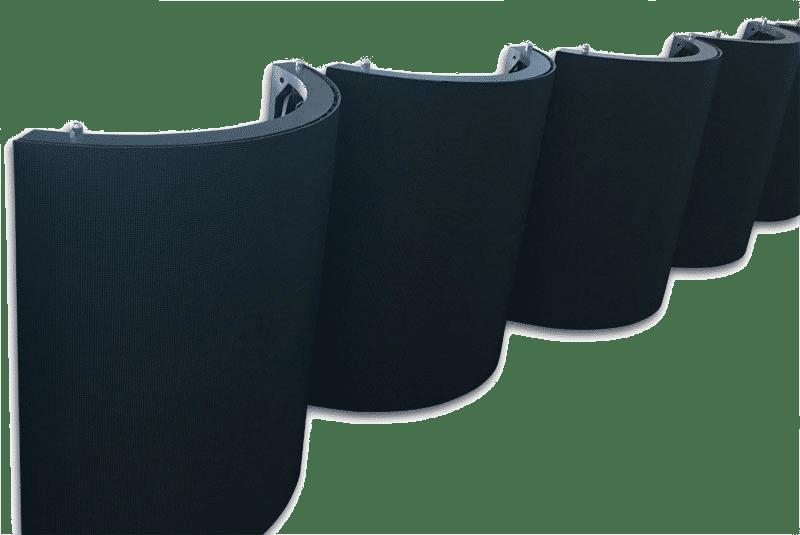 Módulo de display LED flexível de máscara anti-reflexo SMD preto