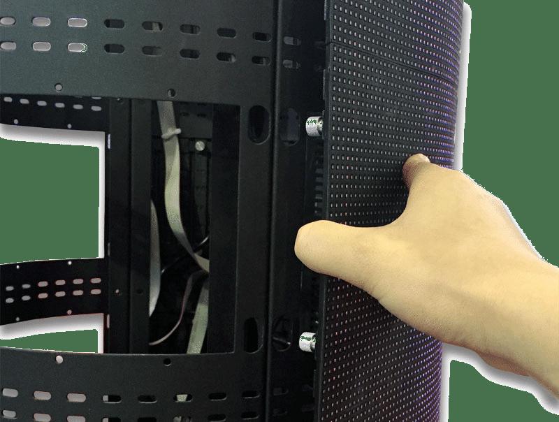 100 ٪ الجبهة للخدمة اسطوانة شاشة LED