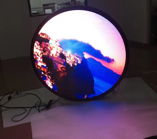 Irregular led display/led circle display
