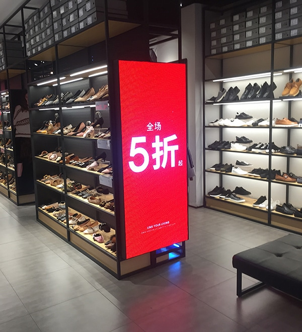 led poster in retail