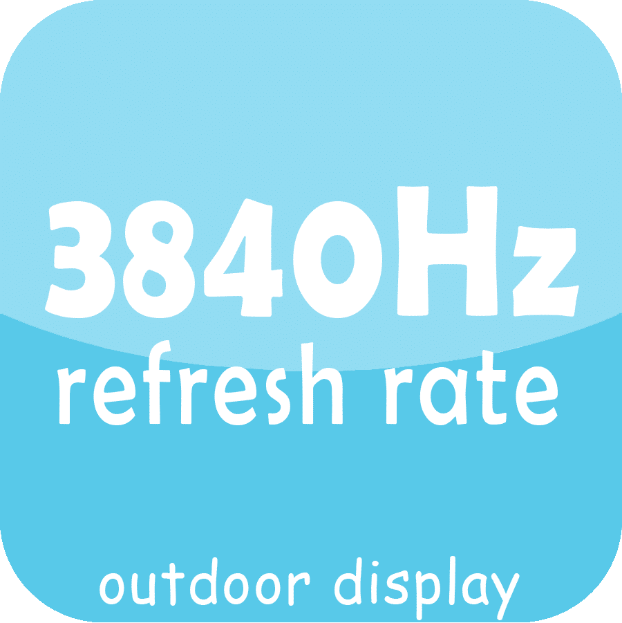 High refresh rate outdoor led display