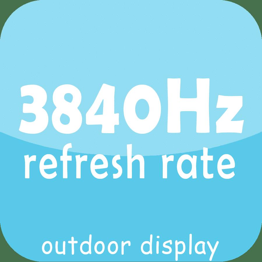 Display LED de alta taxa de atualização ao ar livre