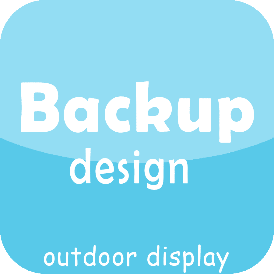 back up design front service outdoor led display module