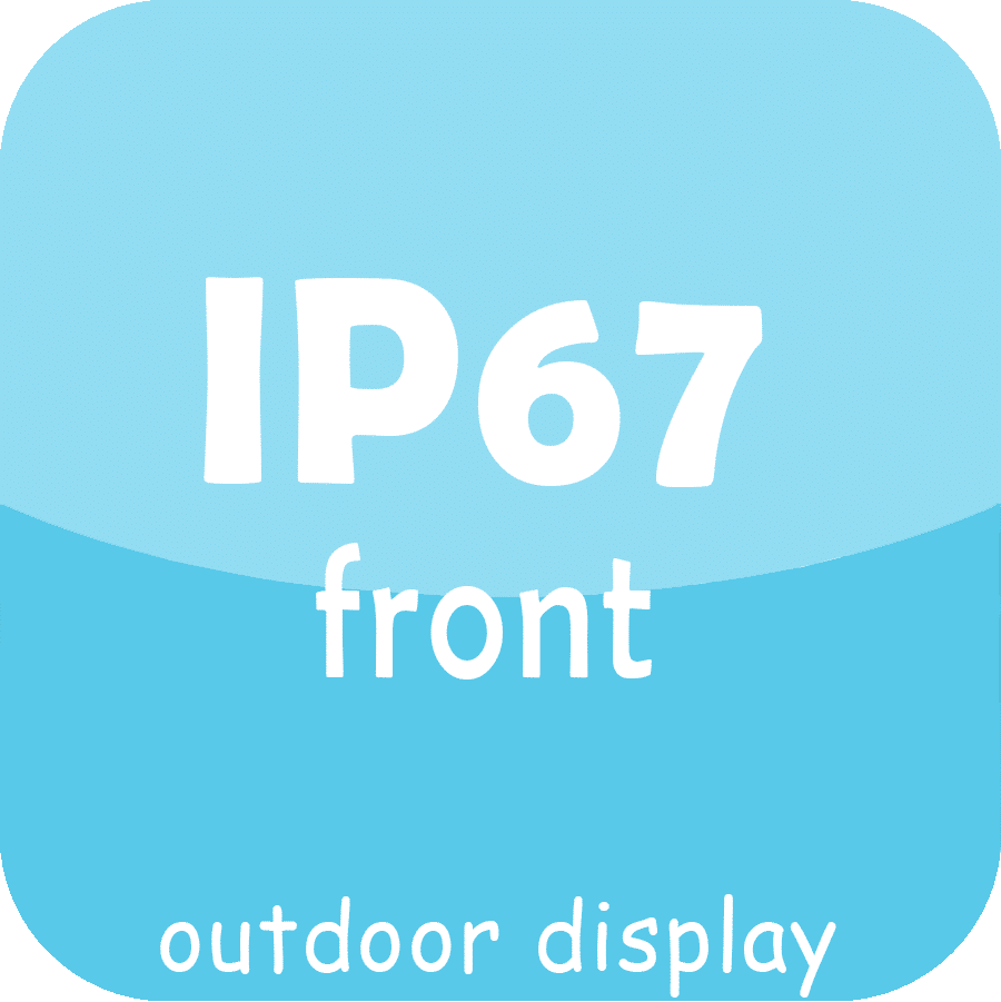 IP67 front service outdoor led display