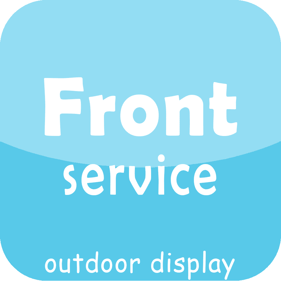front service outdoor led display