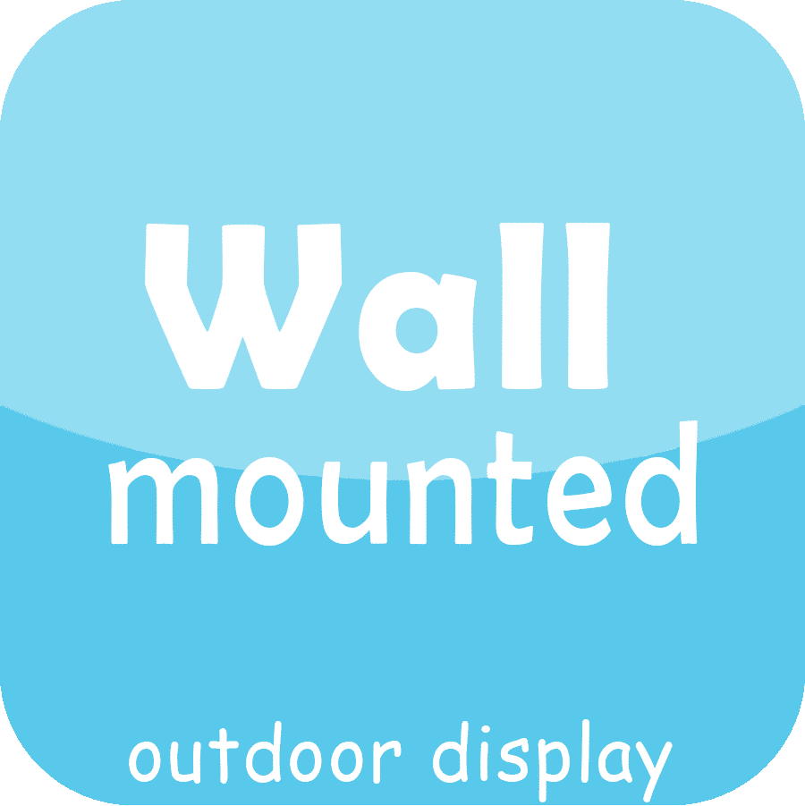 wall-mounted outdoor led display