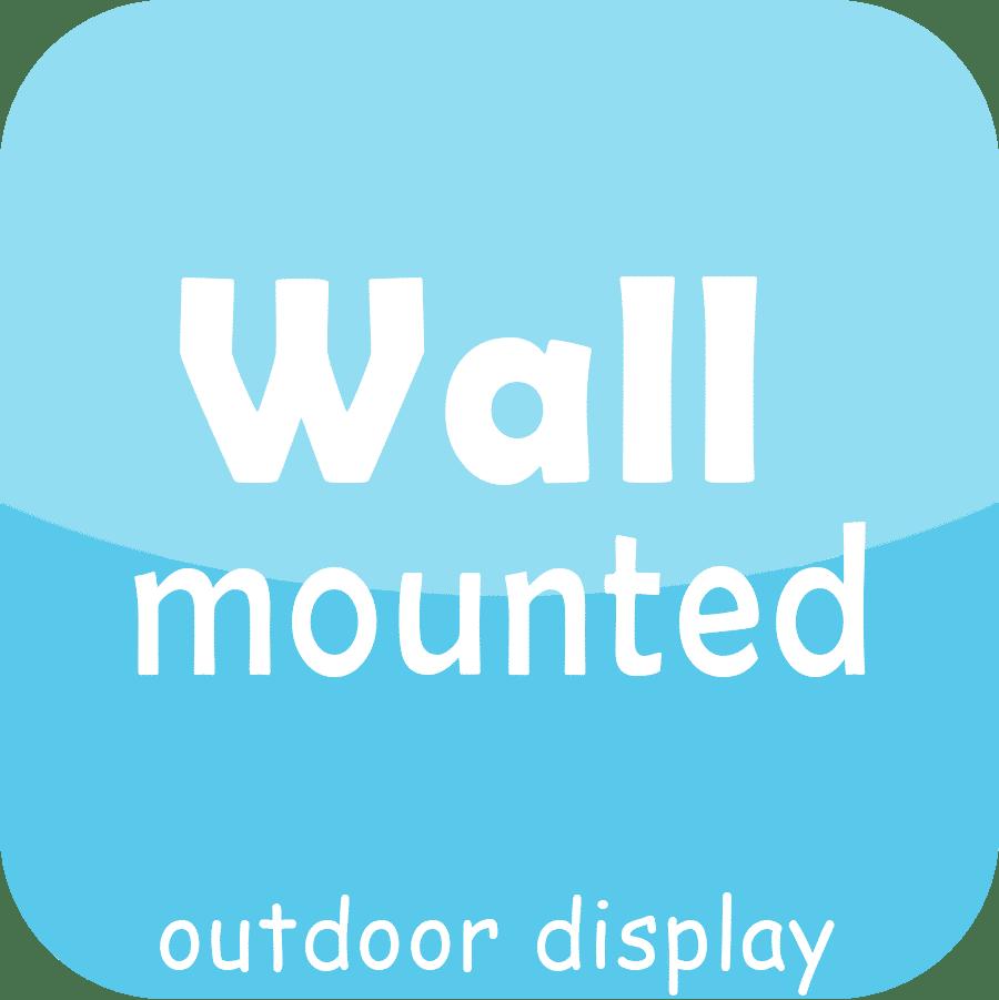 exibição conduzida ao ar livre fixada na parede