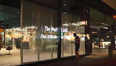 Transparent led display for car dealer