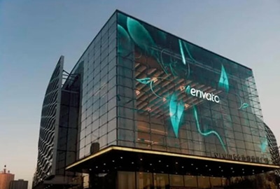 transparent led display for glass building