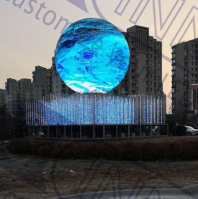 Outdoor LED Sphere Display