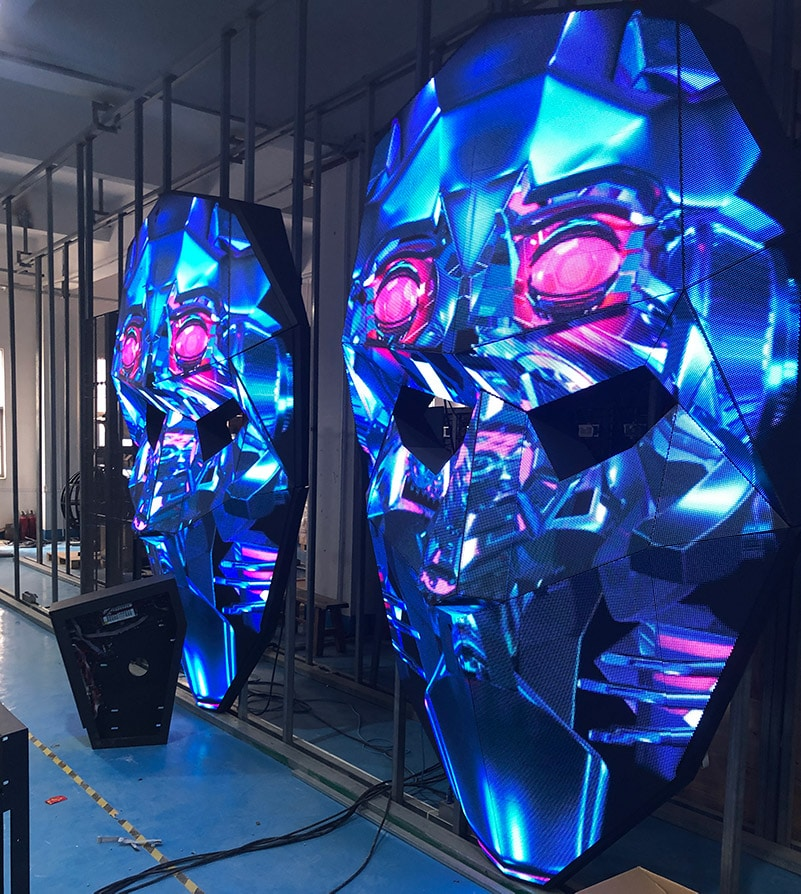 Face-shape 3D LED Screen-Provided by 3CINNO