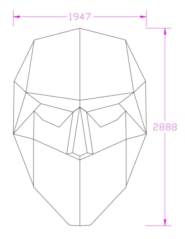 Face shape led screen dimensions