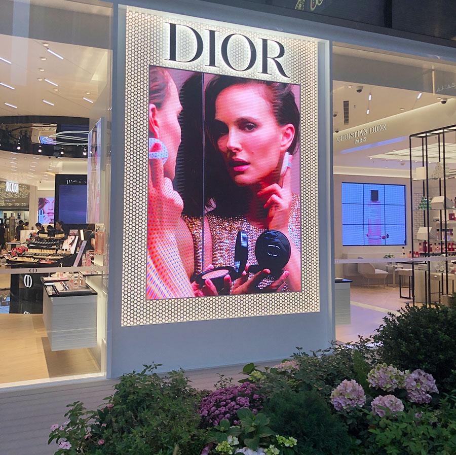 Dior street-front led display