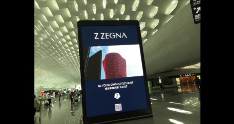high definition airport digital advertising