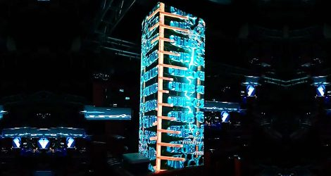 dj video wall facade column