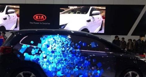 led screen wall in autoshow event
