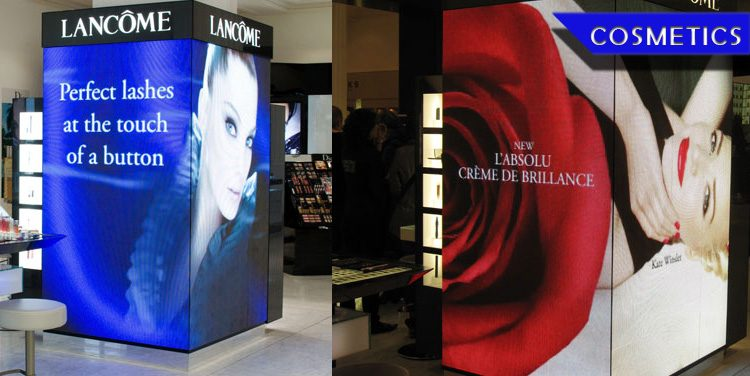retail led display screen_cosmetics store